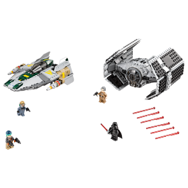 Vader's TIE Advanced vs. A-wing Starfighter